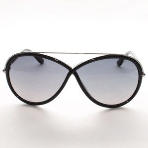 ca724713b9 Tom Ford Accessories - Tom Ford Tamara TF 454 01C Shiny Black Blue Gradie